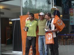 Entrega de premios copa Merrell 20010 1º Andy Hediger... 2º Adrián Acosta... 3º Juan Delgado...